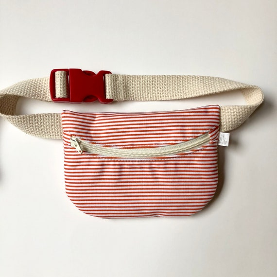 Treasure Pouch in Poppy Red Stripe