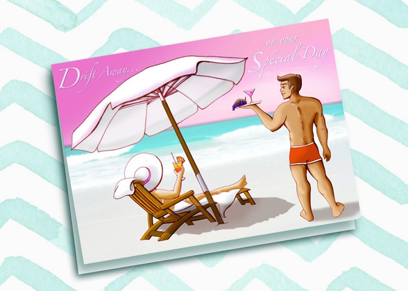 Drift Away on Your Special Day-Birthday Card image 0
