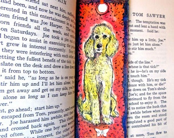 Planners & Organizers Poodle Puppy Dog Blue Spotted Handbag Pen Holder Clip For Planner Journal Book Calendars & Planners
