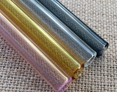 Set of Four 6 quot Drinking Straws, Hand Blown Glass, Mixed Light Colors, Eco Friendly and Hypoallergenic