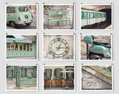 Fine Art Photography, Paris Gallery Wall Prints, Green Paris Photography Collection, Extra Large Wall Art Prints