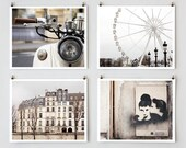 Paris Photography, Gallery Wall Prints, Fine Art Photography Collection, Large White Wall Art Prints, Girlfriend Gift for Her