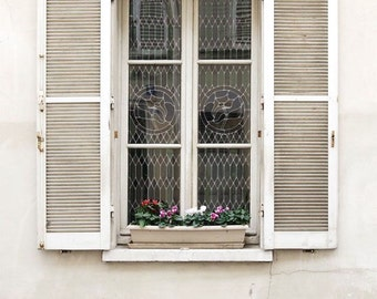 "Paris Photography, ""White Window"" Paris Print, Large Art Print Fine Art Photography, Modern Wall Art, Apartment Art, Gift for Mom"