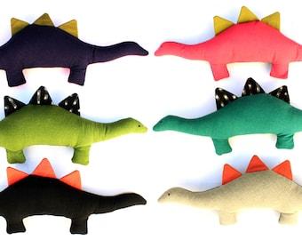Pinxx the Dinosaur-Color Blocked Linen Plush toy