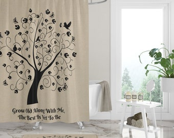 Shower Curtain Tree Of Life Farmhouse Chic Bath Mat Towels