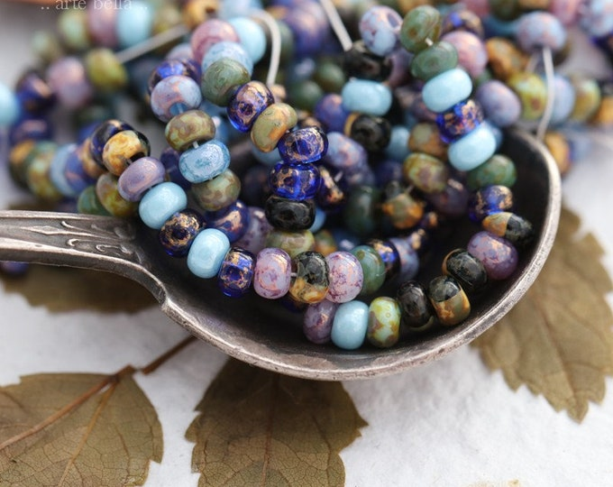 MAJESTIC SEED MIX No. 7885 .. New Premium Picasso Luster Czech Glass Bead Mix Size 8/0 (7885-st)