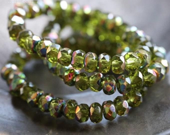 MYSTIC LUSH BABIES .. 30 Premium Czech Glass Faceted Rondelle Beads 3x5mm (7918-st)
