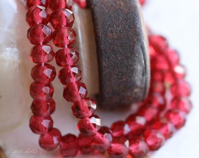BERRY POPS .. 30 Premium Czech Rondelle Glass Beads 3x5mm (5296-st)
