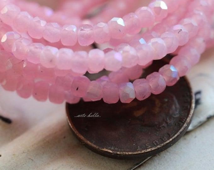 sale .. BUBBLEGUM BABIES .. 50 Czech Pink Glass Rondelle Beads 2x3mm (5006-st)