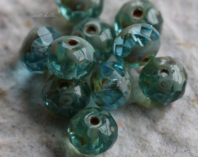 BREATHE No. 5 .. 10 Premium Picasso Czech Glass Rondelle Beads 5x7mm (5741-10)