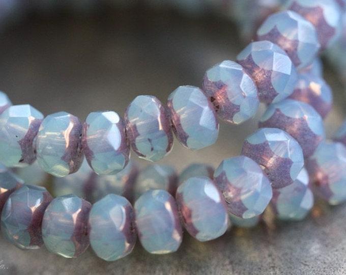 METALLIC GLOW No. 4 .. 30 Premium Picasso Czech Rondelle Glass Beads 3x5mm (B19-st)