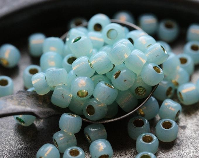 SEAFOAM OPAL SEEDS .. 100 Japanese Toho Glass Seed Bead Size 6/0 (7238-100)