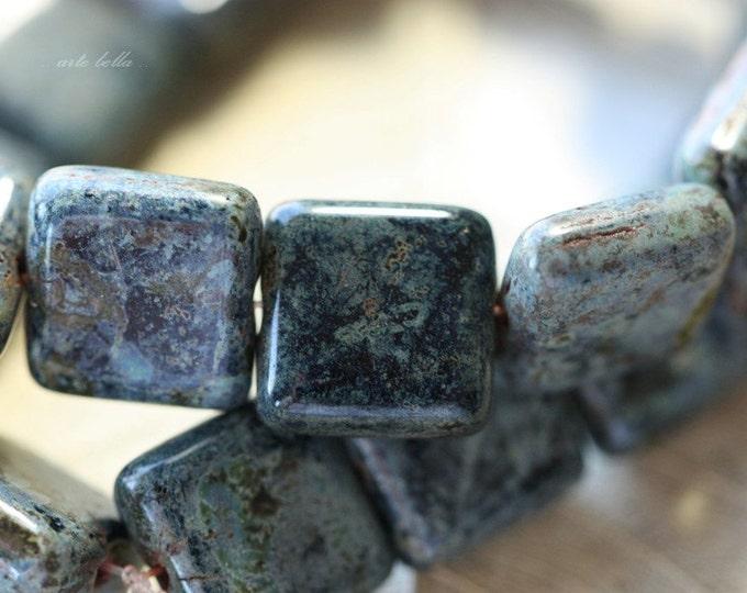 NIGHT SKY No. 1 .. 10 Premium Picasso Czech Glass Beads 10.5mm (64-10)
