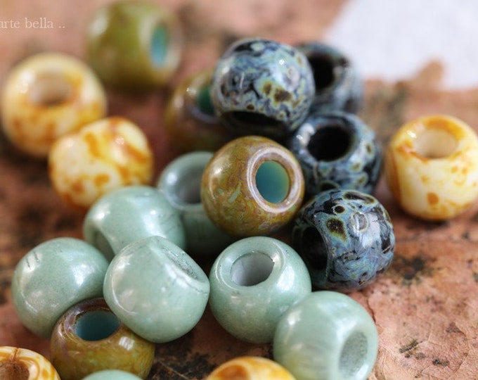 EARTHY SUCCULENT SEEDS No. 8425 .. 30 Premium Picasso Czech Glass Seed Bead Mix Size 32/0 (8425-30)