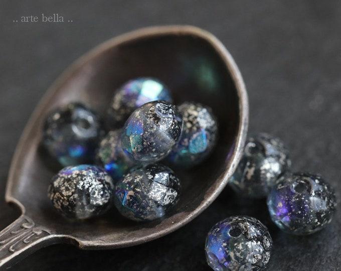 MYSTIC PEBBLES .. 10 Premium Czech Glass Rondelle Beads 5x7mm (7311-10)