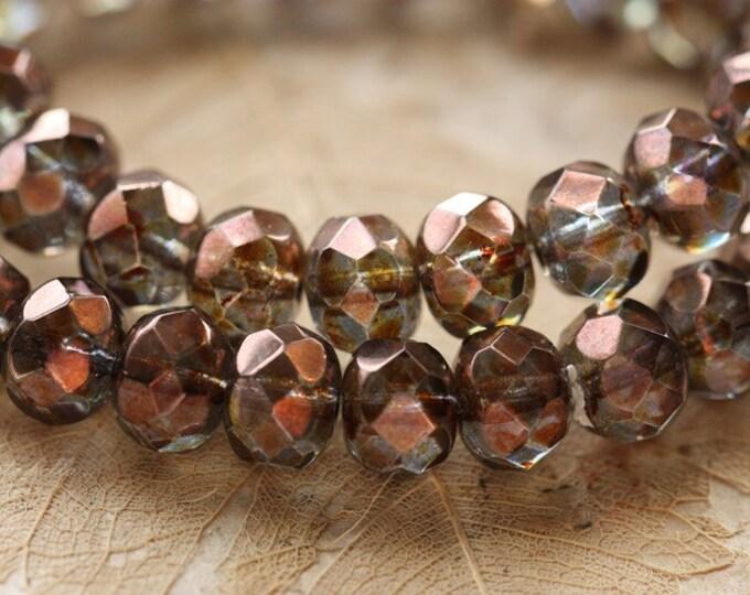 BRI .. 10 Premium Picasso Czech Glass Rondelle Beads 6x9mm (4418-10)