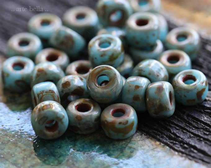 LICHEN SKY SEEDS .. 30 Premium Picasso Matubo Czech Glass Seed Beads Size 2/0 (7696-30)