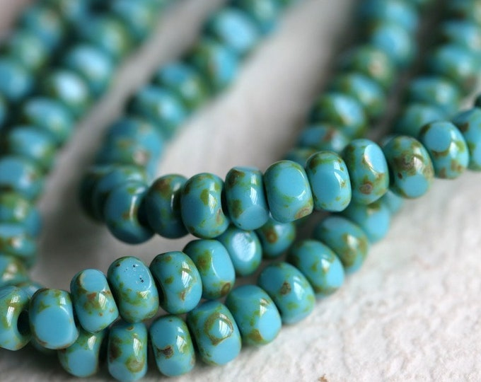 SKY SEEDS No. 1 .. 50 Premium Picasso Czech Glass Faceted Seed Bead Size 6/0 (7208-st)