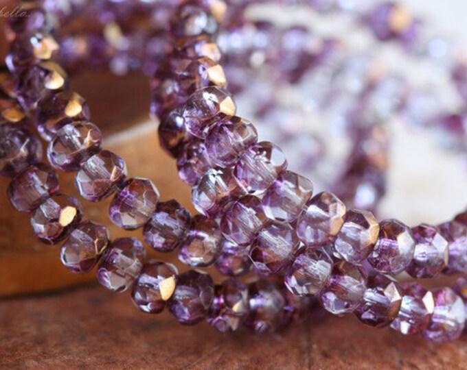 PRINCESS PUNCH .. 30 Premium Picasso Czech Rondelle Glass Beads 3x5mm (B59-st)