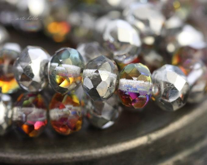 MYSTIC No. 1 .. 10 Premium Czech Glass Rondelle Beads 6x8mm (4524-10)