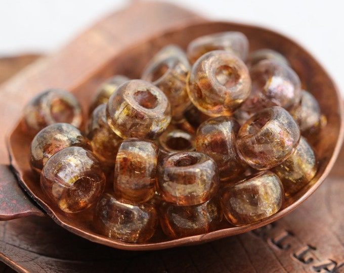 BRONZE LUSTER SEEDS .. 30 Premium Matubo Czech Glass Seed Beads Size 2/0 (8188-30)