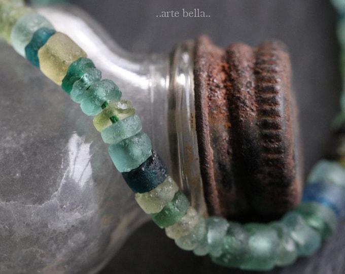 ANCIENT ROMAN GLASS No. 157 .. Genuine Antique Roman Glass Heishi Beads (rg-157)