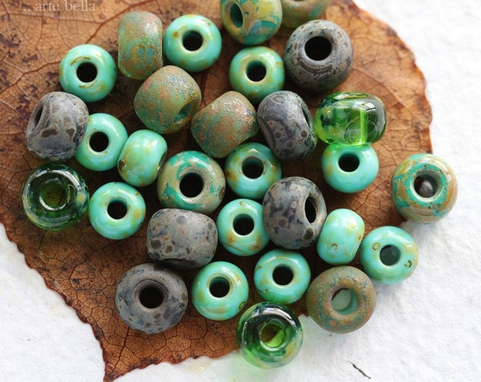 RIVER MIX No. 7957 .. 30 Premium Picasso Czech Glass Seed Bead Mix Size 32/0 (7957-30)