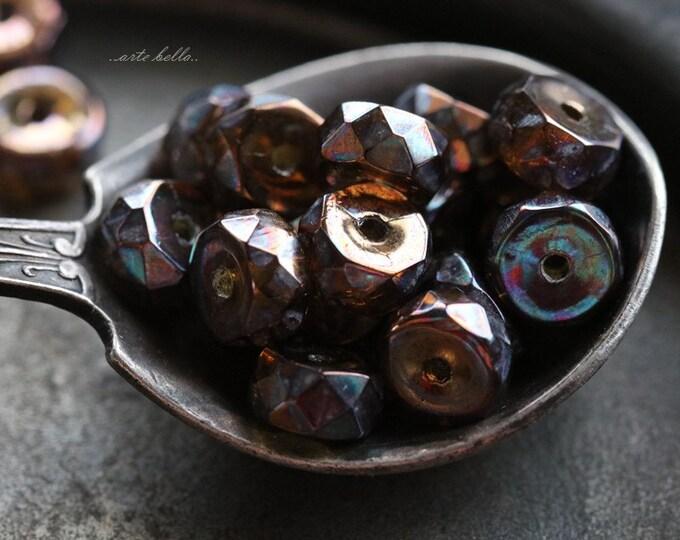 TOPAZ WHEELS .. 20 Premium Czech Flat Rondelle Glass Beads 6x3mm (5668-20)