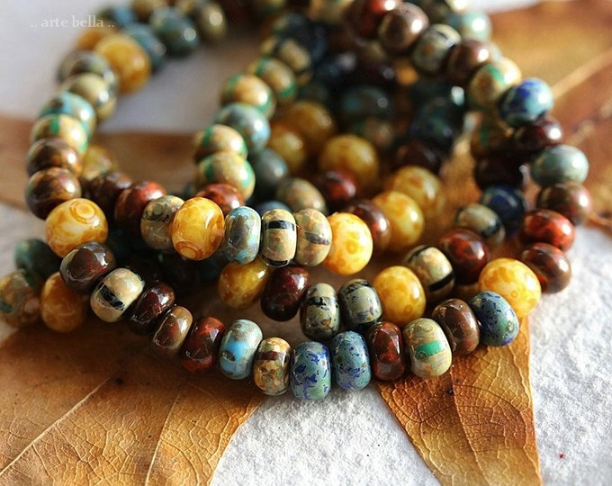 """BOHEMIAN SEED MIX No. 8716 .. New 20"""" Premium Picasso Czech Glass Glossy Striped Seed Bead Mix Size 4/0 (8716-st)"""