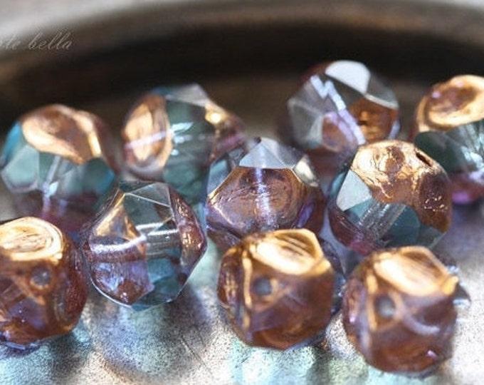 PRINCE .. 10 Premium Picasso Czech Baroque Glass Beads 8mm (3226-10)