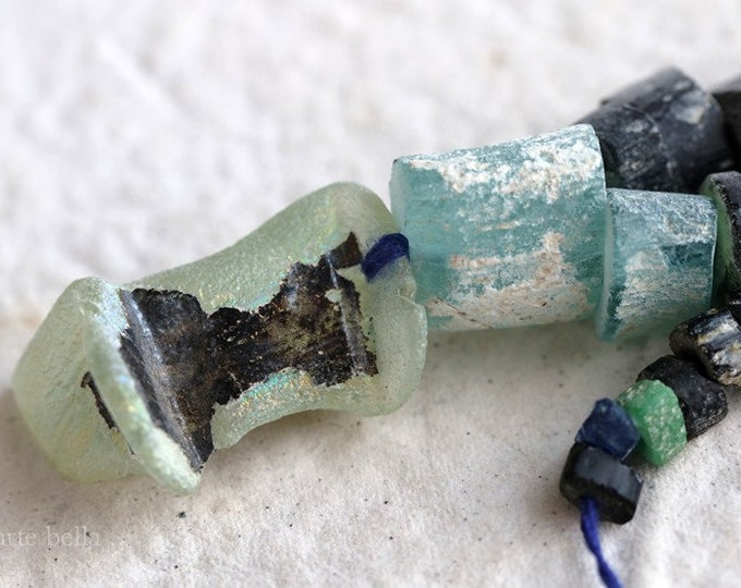 ANCIENT ROMAN GLASS Beads No. 361 .. Genuine Antique Ancient Roman Glass Fragment Beads (rg-361)