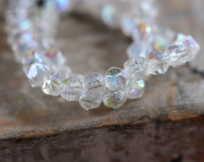 FAIRY SPARX .. 50 Premium Picasso Czech English Cut Beads 3mm (3287-st)