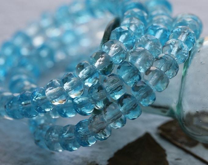 ARCTIC ..  30 Premium Czech Glass Faceted Rondelle Beads 3x5mm (8067-st)
