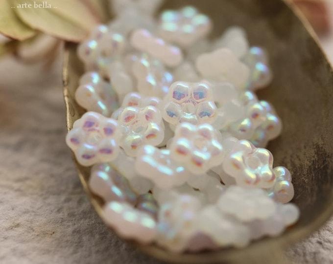 MYSTIC FAIRY VINCA .. New 50 Premium Czech Glass Flower Spacer Beads 5mm (8944-50)