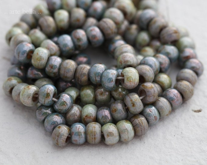 SPRING MEADOW SEEDS No. 7867 .. Premium Picasso Czech Glass Seed Bead Mix Size 2/0 (7867-st)