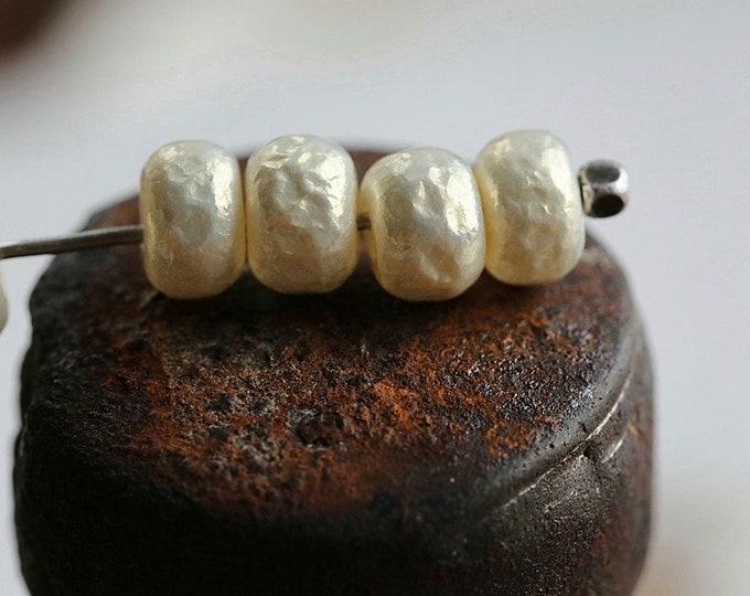 IVORY LUSTER PEARLS No. 2 .. New 20 Premium Miyuki Baroque Glass Pearl Seed Beads Size 5/0 (8554-20)