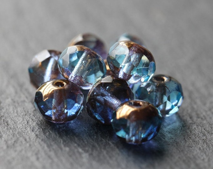 PRINCE No. 3 .. 10 Premium Czech Faceted Rondelle Glass Beads 5x7mm (3908-10)