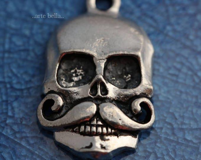 sale .. HERMAN .. 1 Mykonos Greek Skull Pendant/Charm 21x15mm (M161-1)
