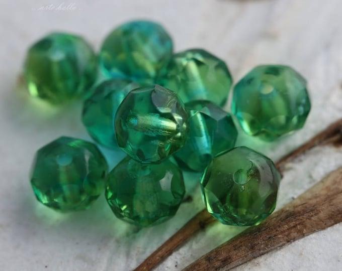SUMMER DAY No. 2 .. 10 Premium Czech Faceted Glass Beads 7x5mm (5818-10)