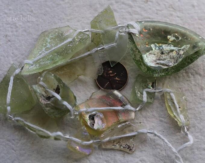 ANCIENT ROMAN GLASS No. 309 .. Genuine Antique Roman Glass Beads (rg-309)