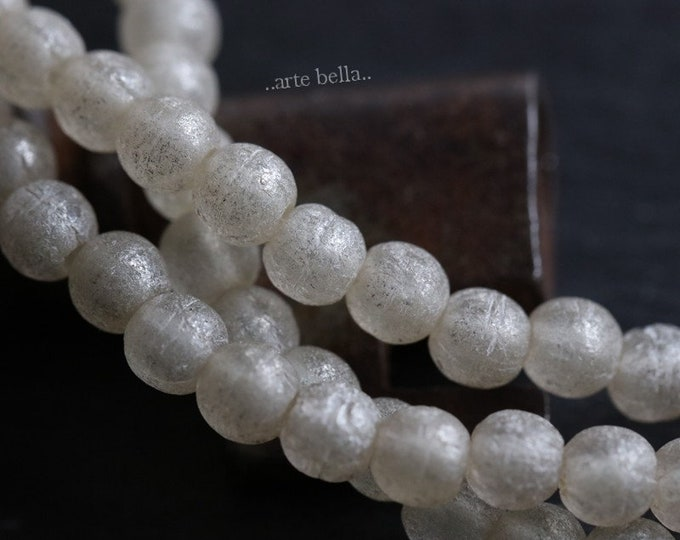 MATTE SNOW 4mm .. 50 Premium Czech Matte Druk Glass Beads (6564-st)