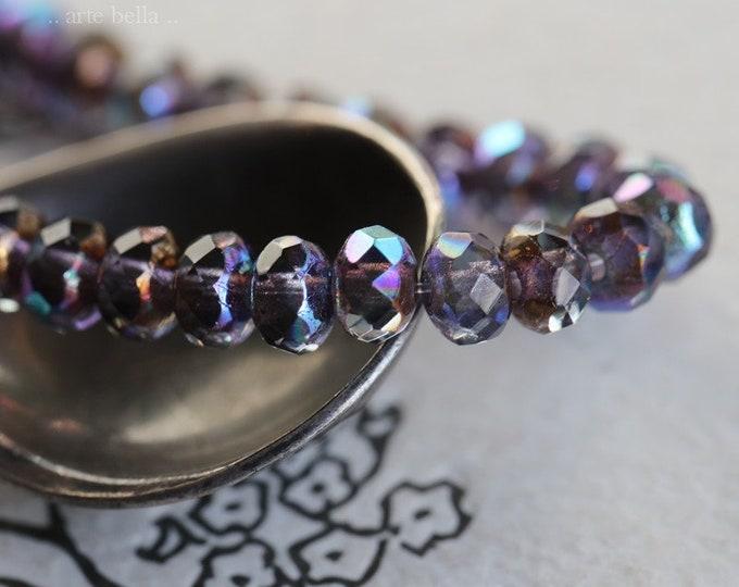 MYSTIC BRONZE GRAPES .. 30 Premium Czech Glass Faceted Rondelle Beads 3x5mm (7651-st)