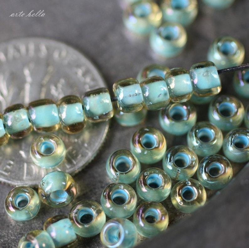 SEASCAPE .. 100 Japanese TOHO 6/0 Glass Seed Beads (2285-100) photo