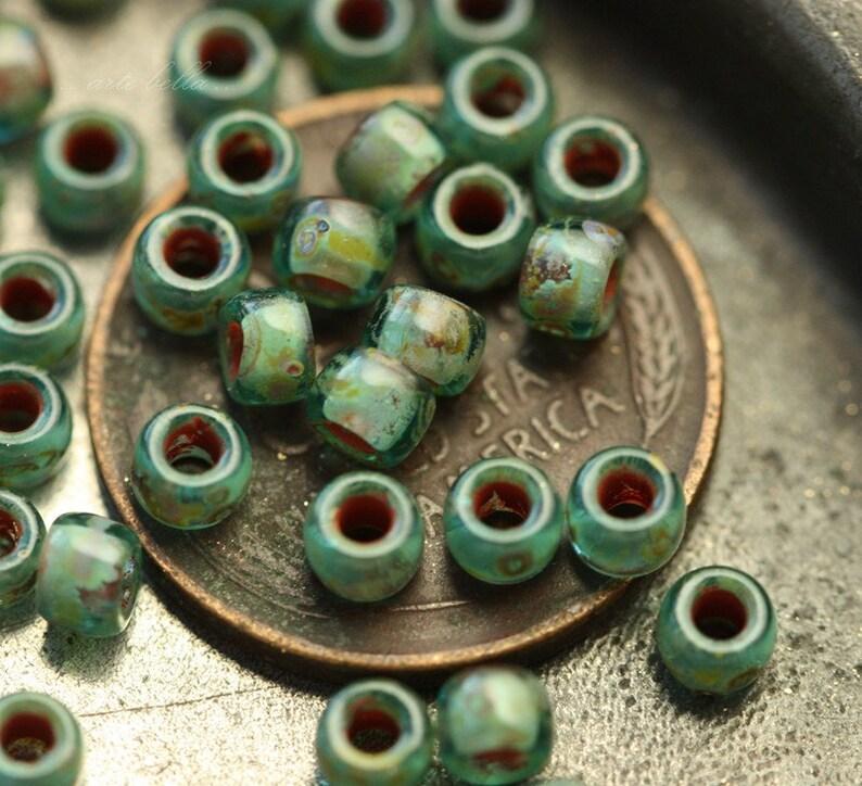 OCEANSCAPE .. 100 Premium Picasso Japanese TOHO 7/0 Seed Beads (4172-100) photo