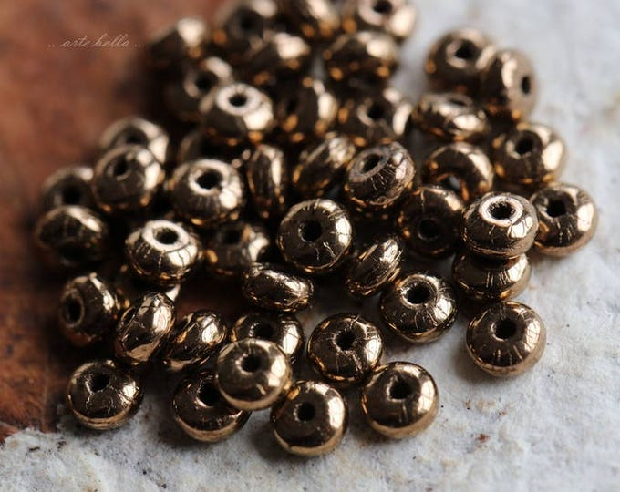 BRONZE BITS .. 50 Premium Czech Glass Rondelle Beads 2x3mm (5773-50)