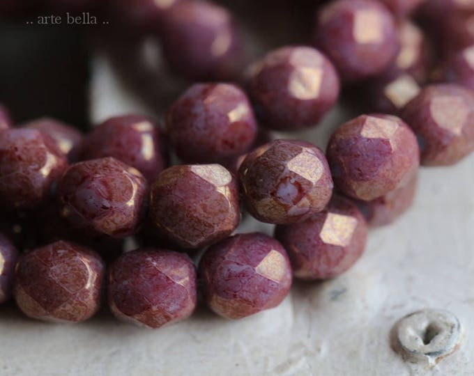 PIXIE 6mm .. 25 Picasso Czech Faceted Glass Beads 6mm (6047-st)
