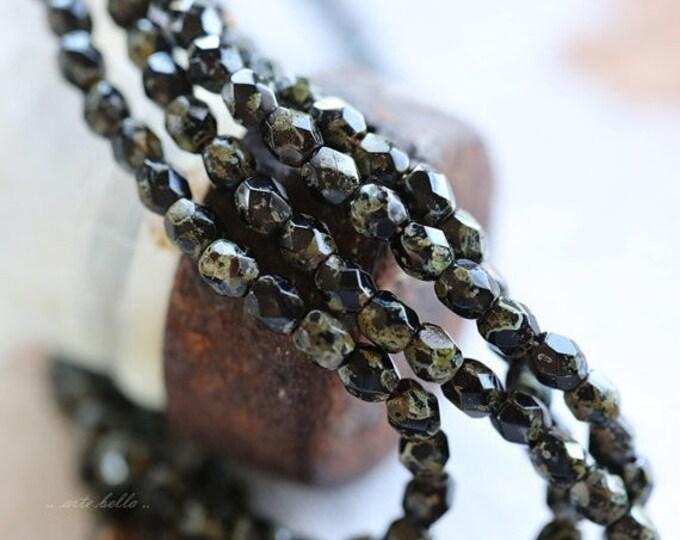 TWILIGHT ROUND BITS .. 50 Premium Picasso Czech Glass Beads 3mm (4220-st)