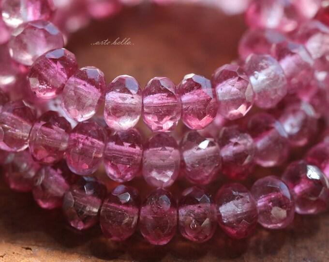 POPPY BABIES .. 30 Premium Czech Glass Faceted Rondelle Beads 3x5mm (5893-st)