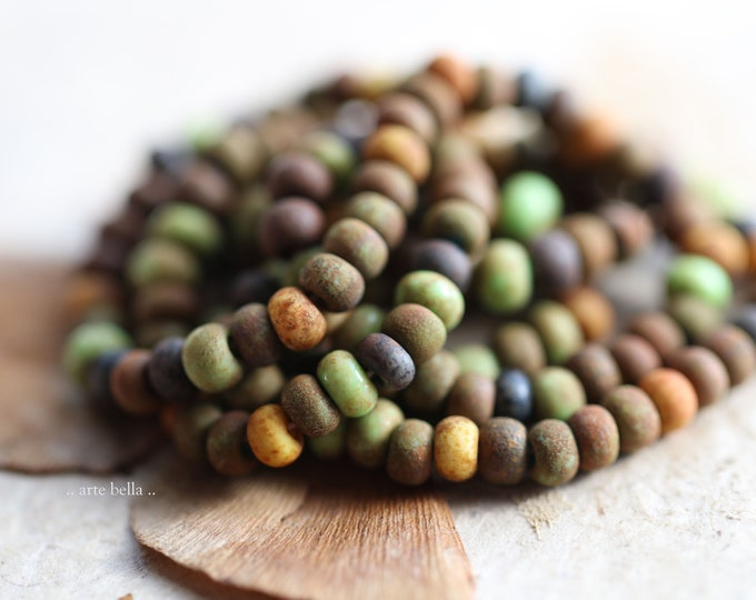 """AUTUMN SEED MIX No. 9186 .. New 20"""" Premium Matte Picasso Czech Glass Aged Seed Bead Mix Size 5/0 (9186-st)"""