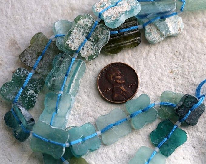 ANCIENT ROMAN GLASS No. 293 .. Genuine Antique Roman Glass Fragment Beads (rg-293)